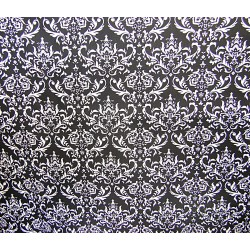 Damsk pattern Black&White - 100% Cotton