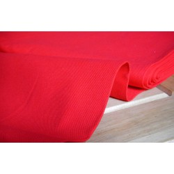 Heavy weight panama fabric - red - 100% cotton