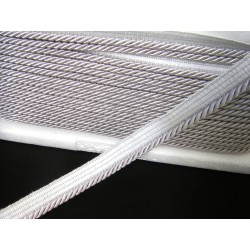 Flanged rope  piping cord - silver