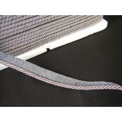 Flanged rope  piping cord - dark grey