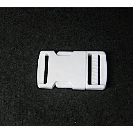 Side Release Plastic Buckle - 28mm - white