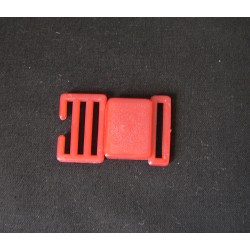 Side Release Plastic Buckle - 24mm - red