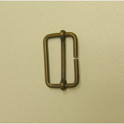 metal slider  -28mm - antique brass