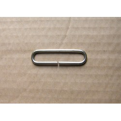 Rectangle Metal rectangle D ring - 50mm - nickel