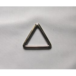 Silver Metal trriangle  D ring - 30mm