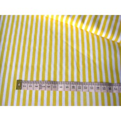 yellow&white stripes 5mm/5mm
