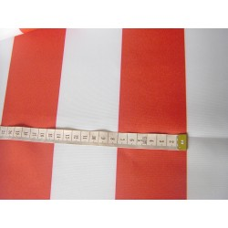 Outdoor waterproof fabric - red stripes