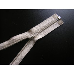 plastic coil zip - cold beige - length from 30cm to 70cm