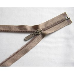 plastic coil zip - dark beige - length from 30cm to 70cm