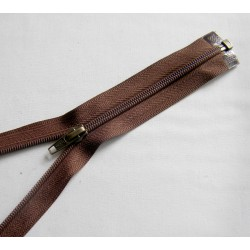 plastic coil zip - chestnut brown - length from 30cm to 70cm