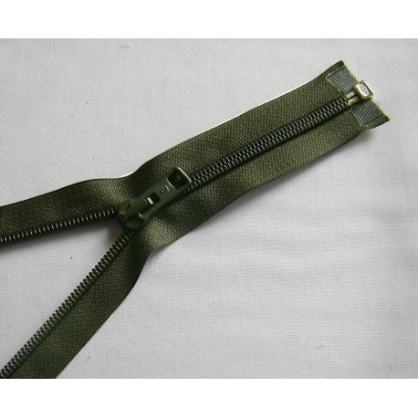 plastic coil zip - seaweed green - length from 30cm to 70cm