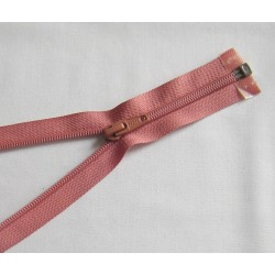 plastic coil zip - coral pink - length from 30cm to 70cm