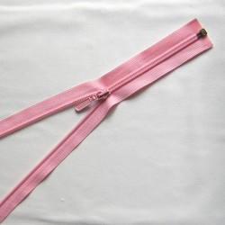 plastic coil zip - baby pink - length from 30cm to 70cm