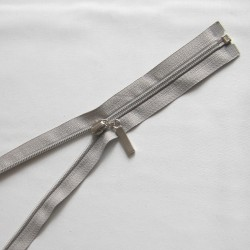 plastic coil zip - light grey - length from 30cm to 70cm