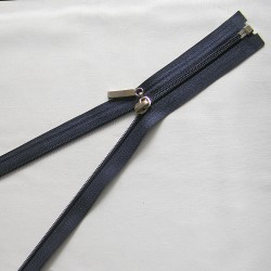 plastic coil zip -  navy decorative puller - length from 30cm to 70cm