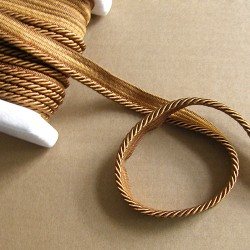 Flanged rope  piping cord 5mm - ginger
