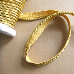 Flanged rope  piping cord 5mm- gold
