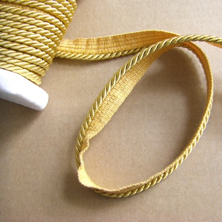 Flanged rope  piping cord - honey