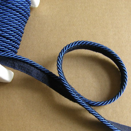 Flanged rope  piping cord - sapphire
