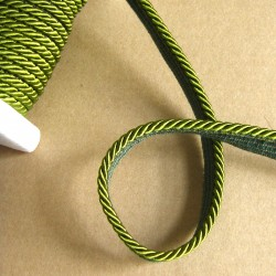 Flanged rope  piping cord 5mm - pea green