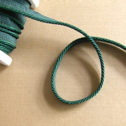 Flanged rope  piping cord - dark sea green