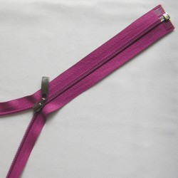 plastic coil zip -  ruby decorative puller - length from 30cm to 70cm
