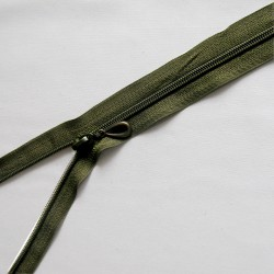 plastic coil zip - army green -60cm