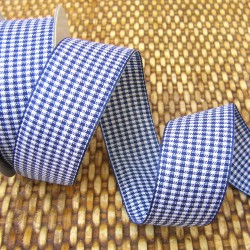 Gingham ribbon - 25mm - navy - large check