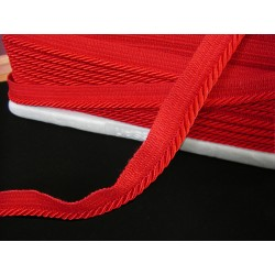 Flanged rope  piping cord - red