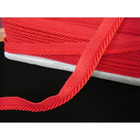 Twisted flanged rope  piping cord 7mm - light red