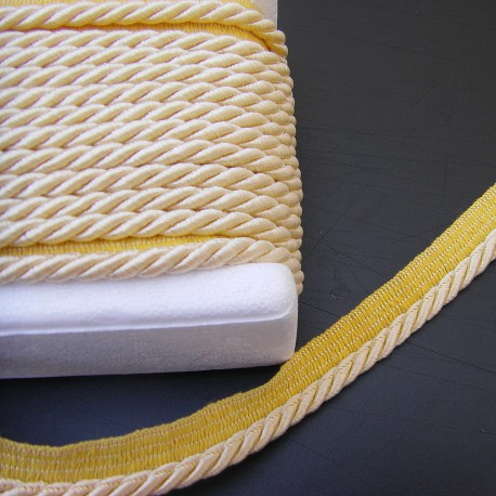 Twisted flanged rope  piping cord 7mm - custard