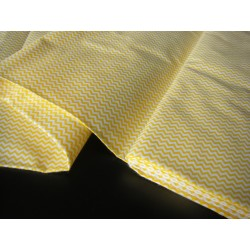 Mini Yellow&White Zig Zag - 100% Cotton