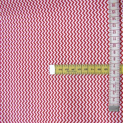 Mini Red&White Zig Zag - 100% Cotton