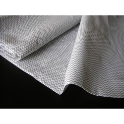 Mini Grey&White Zig Zag - 100% Cotton