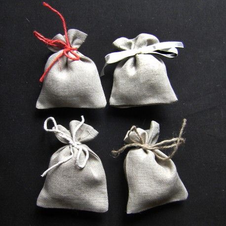 Small Gift bags - Natural Linen  color