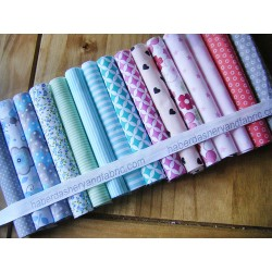 Fabric remnants bundle 15pcs - size 20cm/25cm
