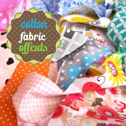 Cotton fabrics off cuts bundle