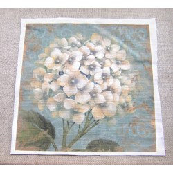 Fabric Panel - Hydrangea Flower in blue- small
