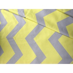 Yellow&Gray big ZigZag - 100% Cotton