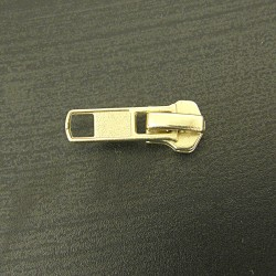 zip slider straight puller metal- size 5 - gold