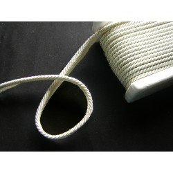 Flanged rope  piping ivory - 5mm