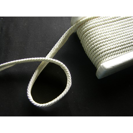Flanged rope  piping off white - 5mm