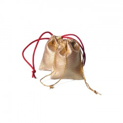 Small Gold  drawstring bags
