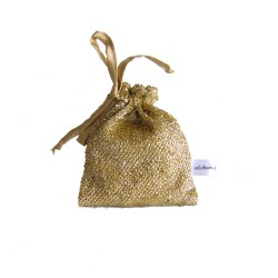 DISCO - Small Gold  drawstring bags