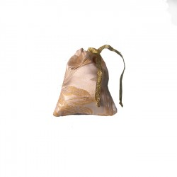 Small Gold Jacquard drawstring bags