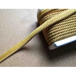 Twisted flanged rope  piping cord 7mm - gold