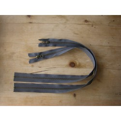 metal zip - dark grey - 50cm - Antique Brass