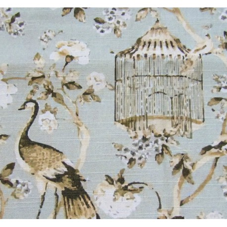 Fabric Panel - Peacock&Cage