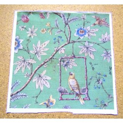 Fabric Panel - Bird on the Swing