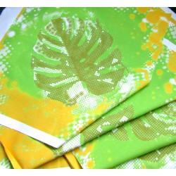 Ready Fabric Panel - Giant Monstera Leaf